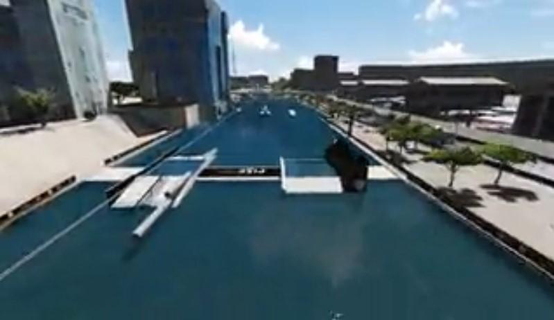 Fise World Montpellier вейкбординг 2015 3D карта парка