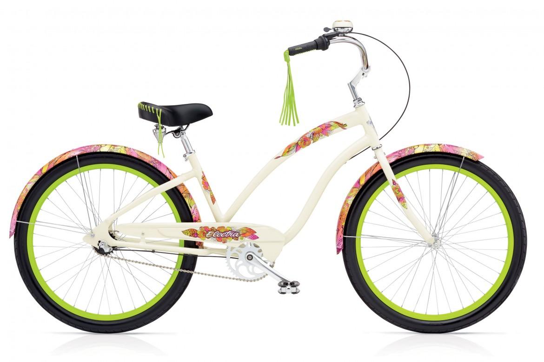 Женский фэшн велосипед Electra Sans Souci 3i cream в ярких цветах