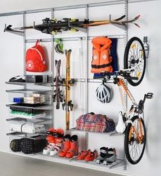 how to store skis elfa garage store utility
